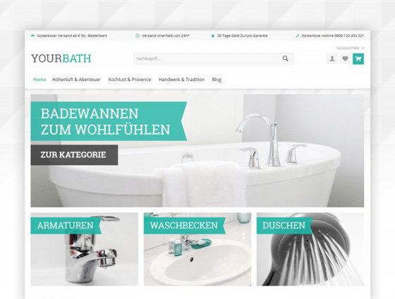 Shopware Theme - ThemeWare® Bath