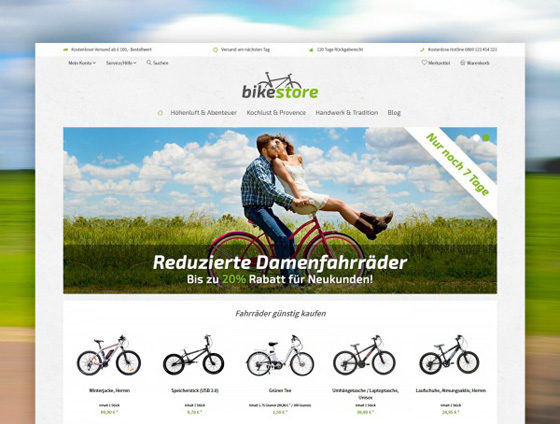 Shopware Theme - ThemeWare® Bike