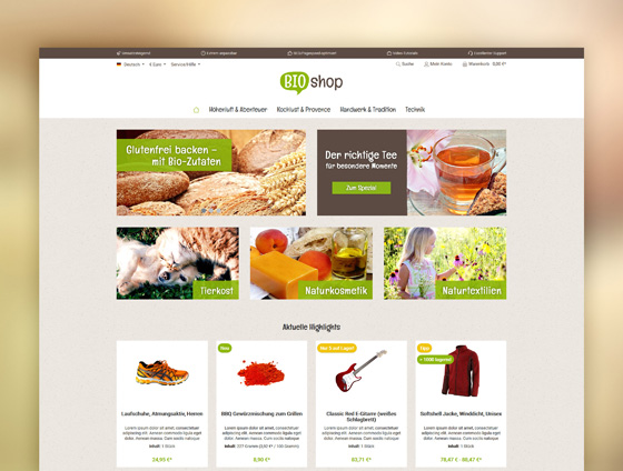 Shopware Theme - ThemeWare® Bio