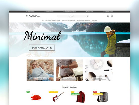 Shopware Theme - ThemeWare® Clean