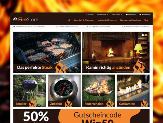 Shopware Theme - ThemeWare® Fire