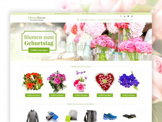 Shopware Theme - ThemeWare® Flower