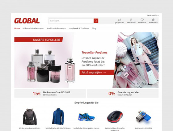 Shopware Theme - ThemeWare® Global