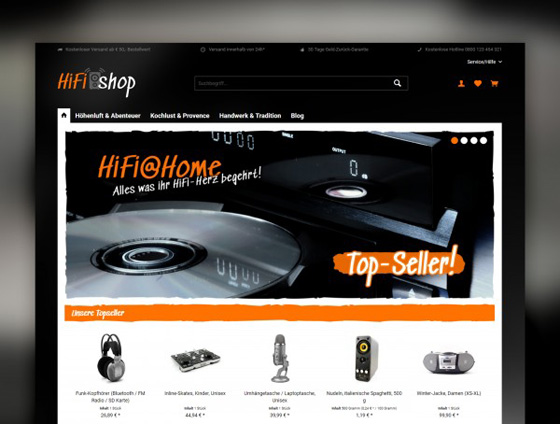 Shopware Theme - ThemeWare® HiFi