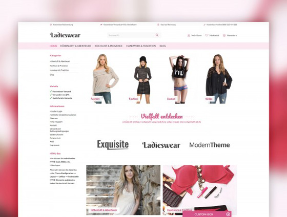 Shopware Theme - ThemeWare® Ladieswear