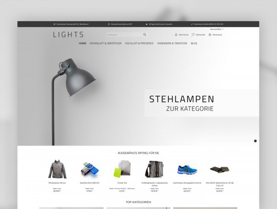Shopware Theme - ThemeWare® Lights