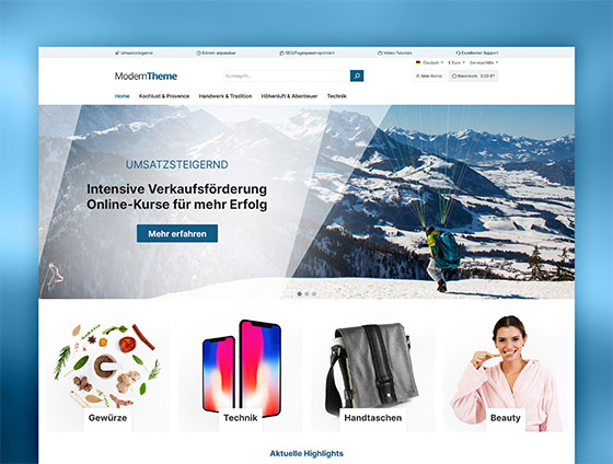 Shopware Theme - ThemeWare® Modern