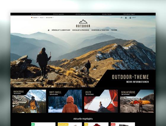 Shopware Theme - ThemeWare® Outdoor