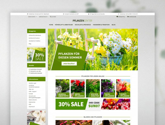 Shopware Theme - ThemeWare® Plants