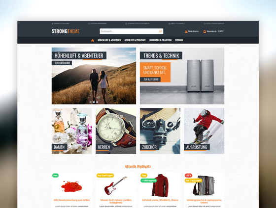 Shopware Theme - ThemeWare® Strong
